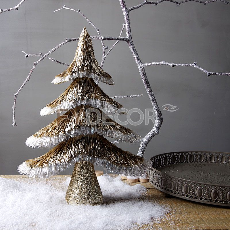 Glitter Artificial Christmas Tree Small Desk Top Decoration Tree Unique Design Xmas Tabletop tree