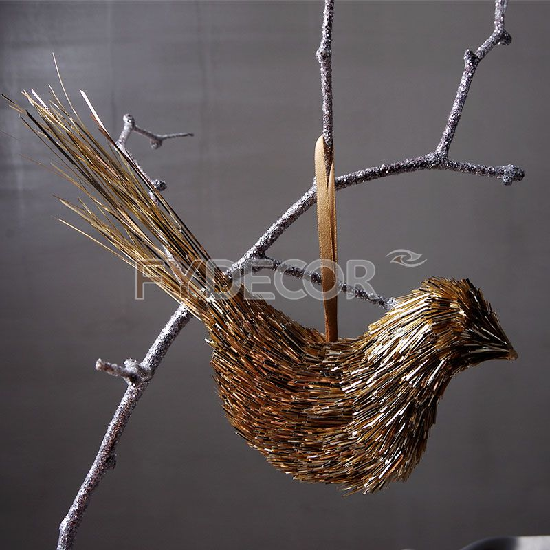 Gold Hanging Ornament for Wedding Decoration