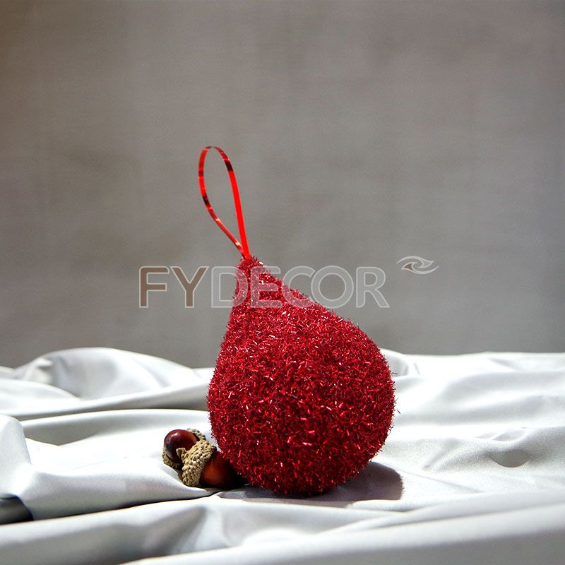 Handmade water drop shaped ball Hanging ornament