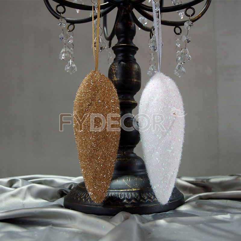 Shiny white ornament hanging ornament handicrafts Christmas tree ornaments for Festive decoration
