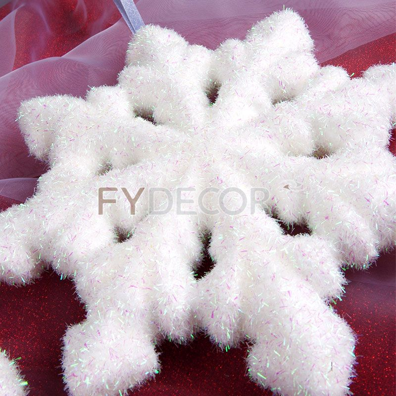 8 inches glittering snowflake handicrafts hanging snowflakes Christmas Ornament for Winter decoration