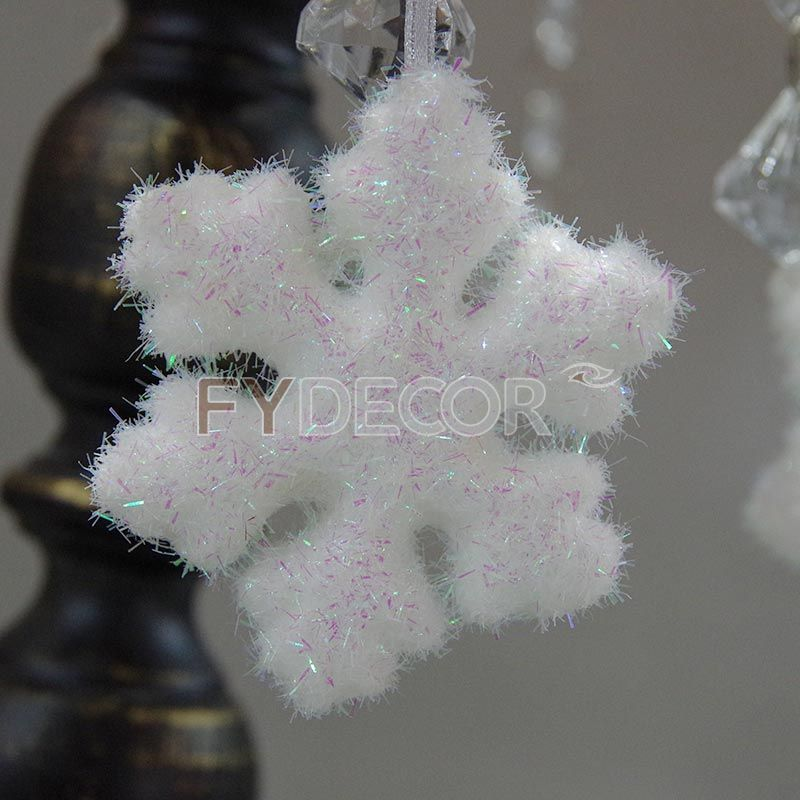 Glittering snowflake Christmas handicrafts Hanging ornament vintage gift