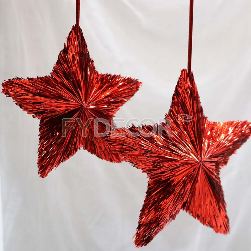 Red star hanging decoration-8 inches handicrafts Christmas ornament