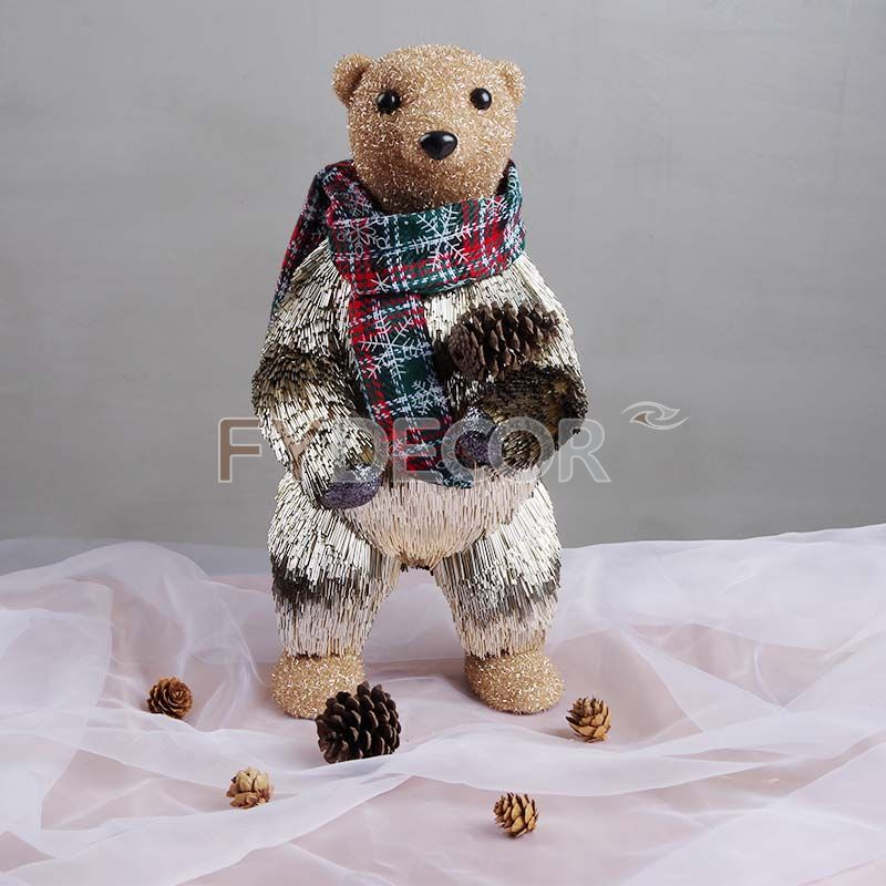 Standing bear decoration home decor new year gifts Christmas ornaments