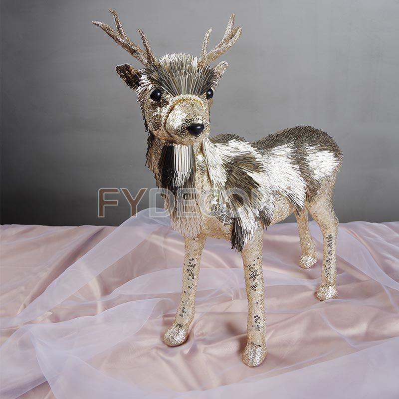 Handmade glittering reindeer ornaments handicrafts for Xmas/Festive/Christmas decoration or festive present