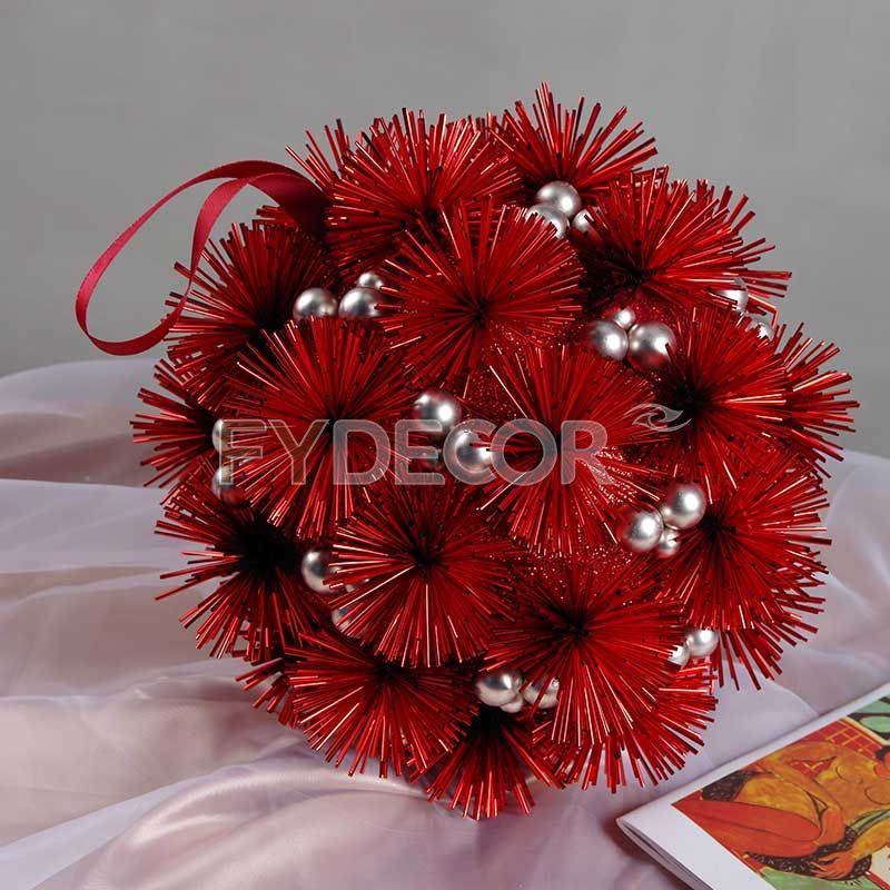 6 size glittering balls Hanging ornament Handicrafts for Christmas decor, wedding/party or festive present