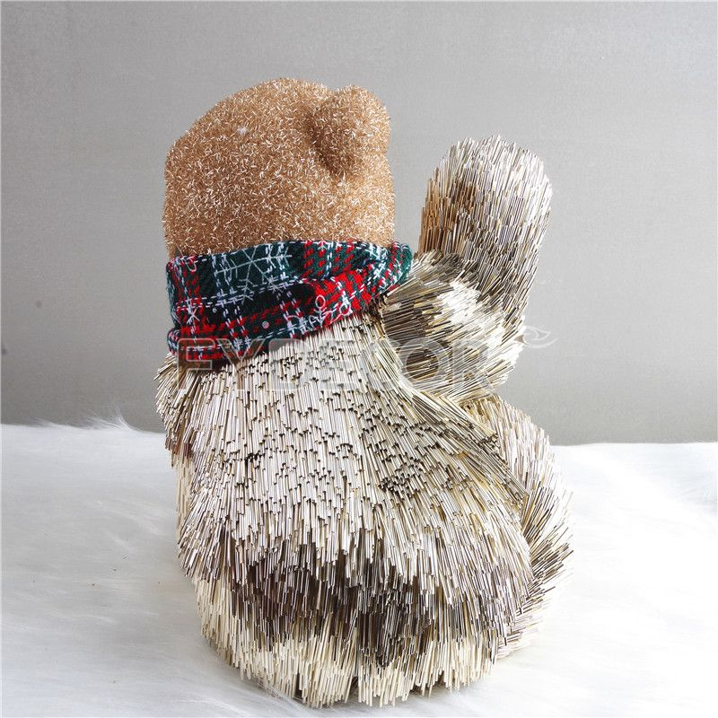 Glitter bear ornament, tabletop decorations for Christmas/Xmas decorations, window display.